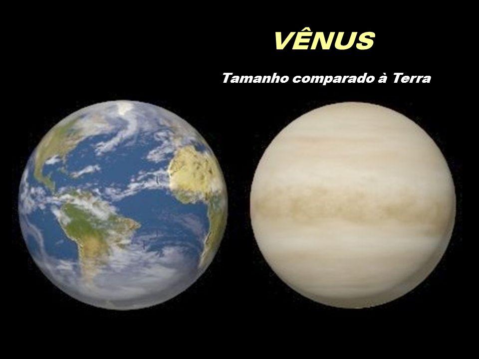 VÊNUS Tamanho comparado à Terra