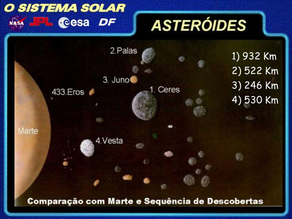 O SISTEMA SOLAR DF ASTERÓIDES Principais asteróides: Pallas Juno Vesta Geographos Ceres: 1000km (diâmetro) Gaspra Toutatis