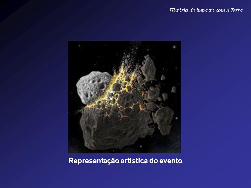 Representação artística do evento História do impacto com a Terra