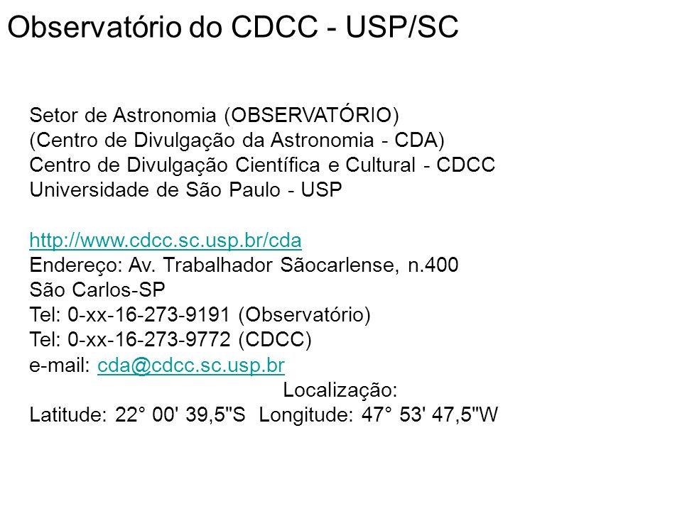 Bibliografia http://www.cdcc.sc.usp.br/cda/ http://www.eso.org/public/events/astro-evt/DeepImpact/ http://hubblesite.org/newscenter/archive/releases/1994/21/ http://deepimpact.jpl.nasa.gov Sessão Astronomia: A Missão Impacto Profundo, por Daniel Carlos, 15 de janeiro de 2005, na página do CDA: http://www.cdcc.sc.usp.br/cda/.