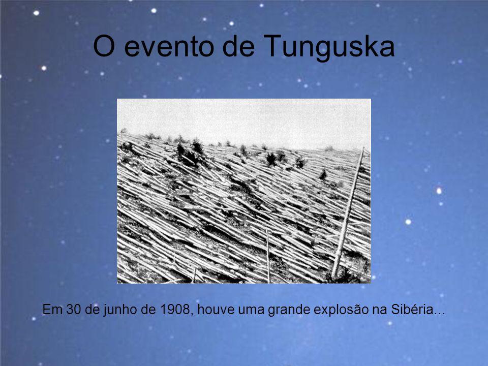 O evento de Tunguska Em 30 de junho de 1908, houve uma grande explosão na Sibéria...