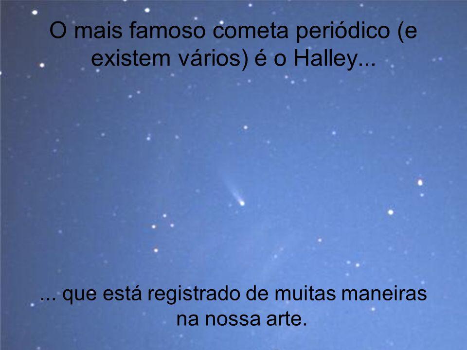 O mais famoso cometa periódico (e existem vários) é o Halley...... que está registrado de muitas maneiras na nossa arte.