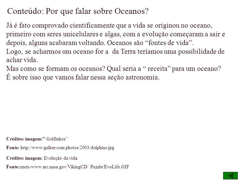 Por que falar sobre Oceanos?