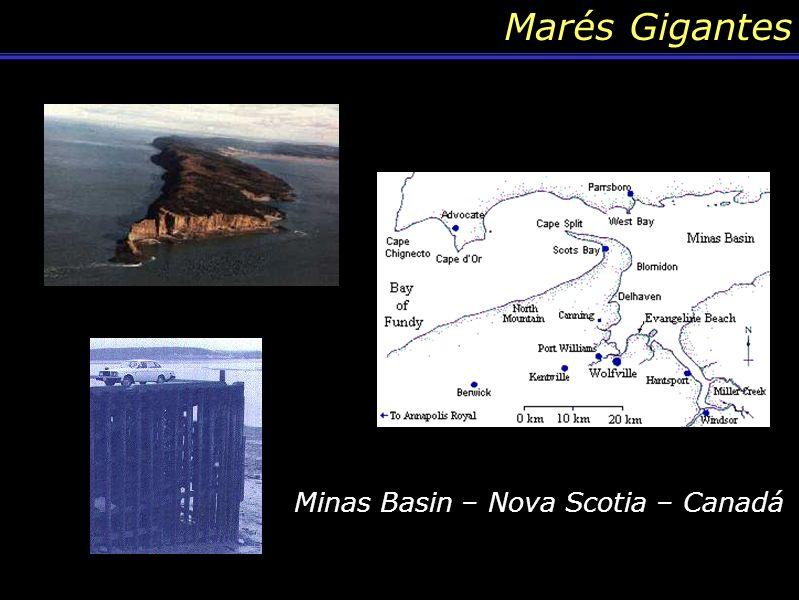 Marés Gigantes Minas Basin – Nova Scotia – Canadá