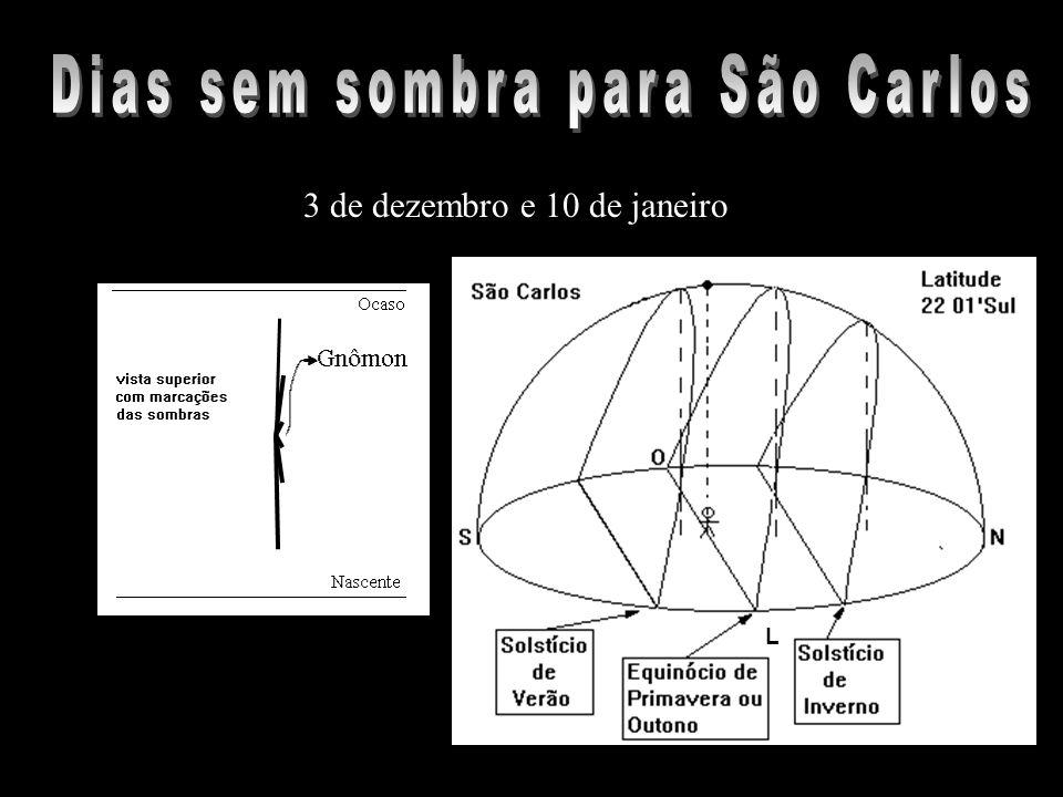 3 de dezembro e 10 de janeiro L