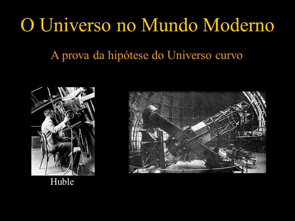 O Universo no Mundo Moderno A prova da hipótese do Universo curvo Huble