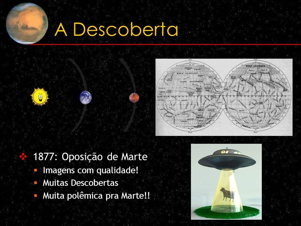 A Descoberta 1877: Oposição de Marte Imagens com qualidade! Muitas Descobertas Muita polêmica pra Marte!!