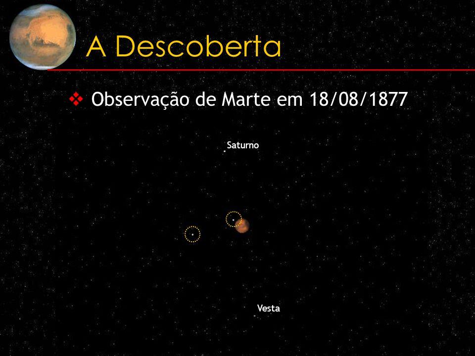 A Descoberta Observação de Marte em 18/08/1877 Saturno Vesta