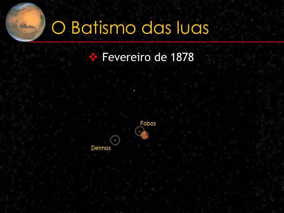 O Batismo das luas Fevereiro de 1878 Fobos Deimos