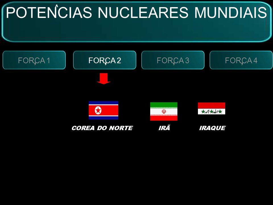 FORCA 2, FORCA 3, FORCA 4, FORCA 1, SISTEMAS BÉLICOS:MÍSSEIS NUCLEARES ARMAS QUÍMICAS POTENCIAS NUCLEARES MUNDIAIS V