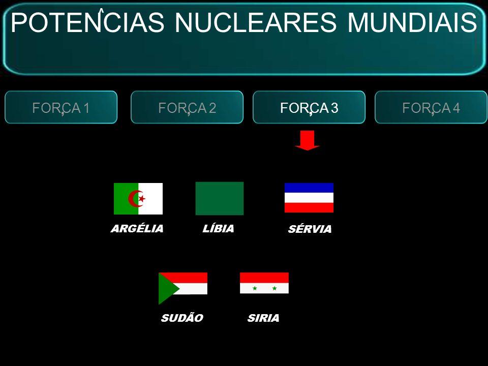 FORCA 2, FORCA 3, FORCA 4, FORCA 1, SISTEMAS BÉLICOS:MÍSSEIS NUCLEARES POTENCIAS NUCLEARES MUNDIAIS V