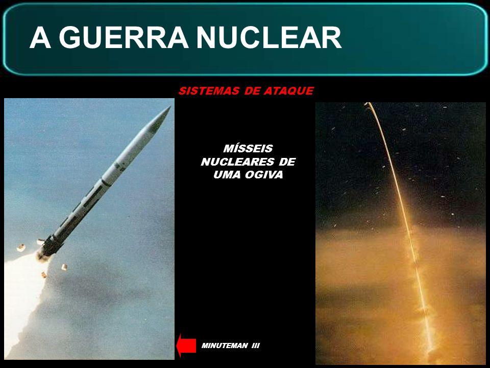 A GUERRA NUCLEAR SISTEMAS DE ATAQUE MÍSSEIS NUCLEARES DE MÚLTIPLAS OGIVAS (MIRVs) OGIVAS NUCLEARESREENTRADA NA ATMOSFERA