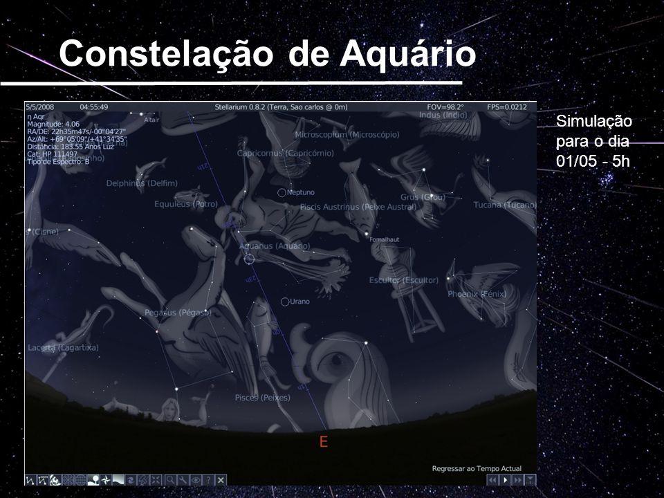 Constelação de Aquário Simulação para o dia 01/05 - 5h
