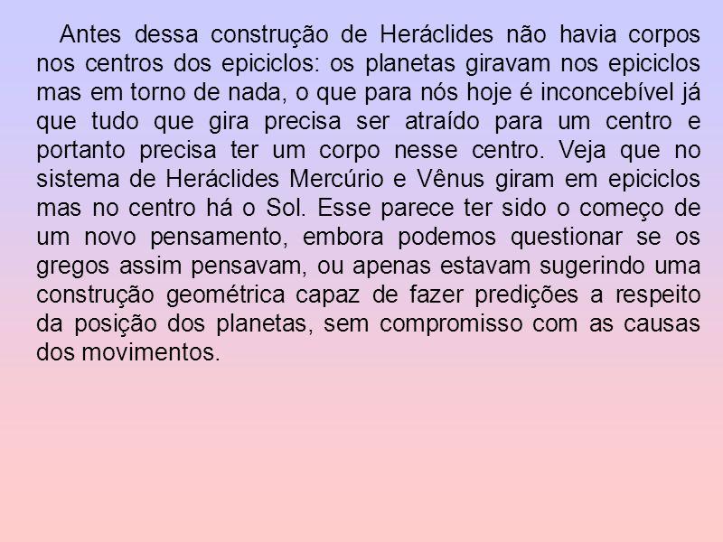 Havia, contudo, um sério problema com o sistema geocêntrico. Se Mercúrio e Vênus girassem em torno da Terra eles poderiam ser vistos em qualquer posiç