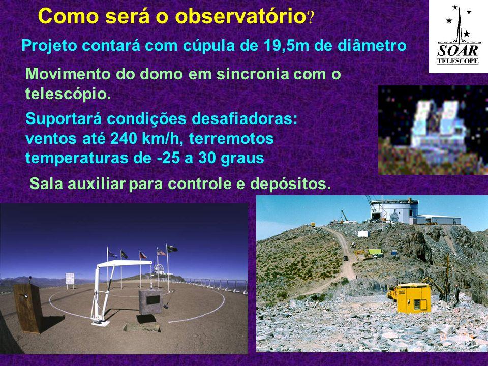 Estrutura do telescópio 12m acima do solo.Como será o telescópio.