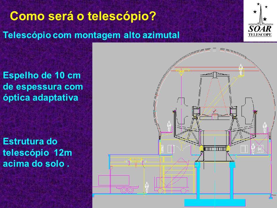 O telescópio SOAR vai trabalhar na faixa do visível e infravermelho proporcionando imagens melhores que a do Hubble (2.4m de espelho).