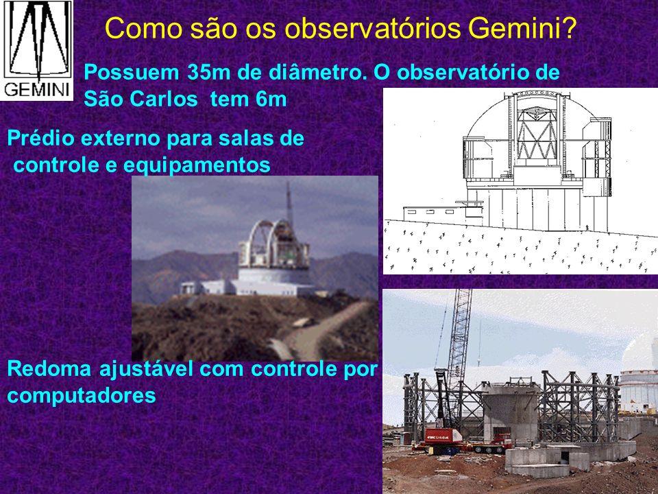 Como são os telescópios Gemini.Refletores: Quais suas vantagens.