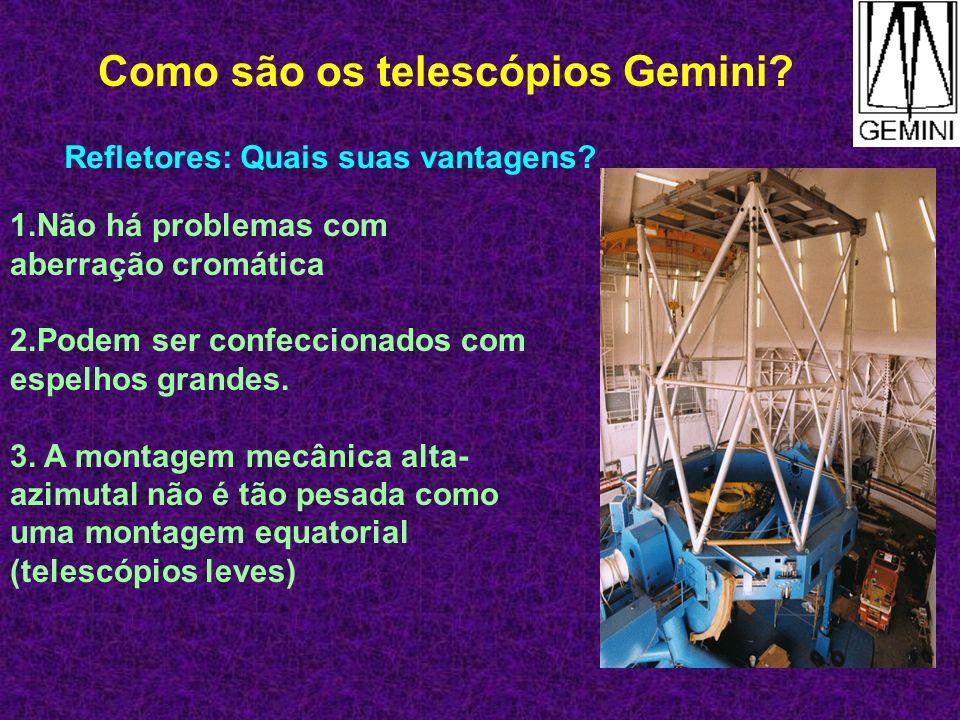 Metas para o Gemini 0,1 no infravermelho 0,3 no visível ambas com óptica ativa.