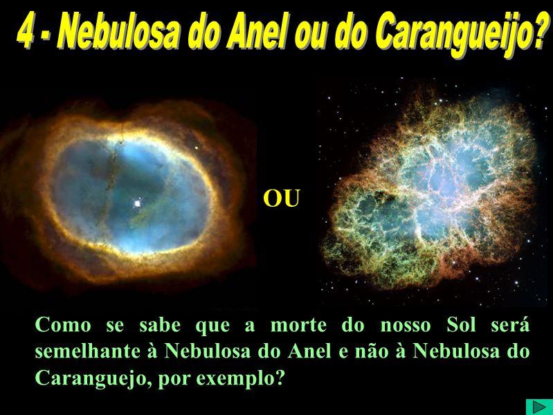 Como se sabe que a morte do nosso Sol será semelhante à Nebulosa do Anel e não à Nebulosa do Caranguejo, por exemplo.