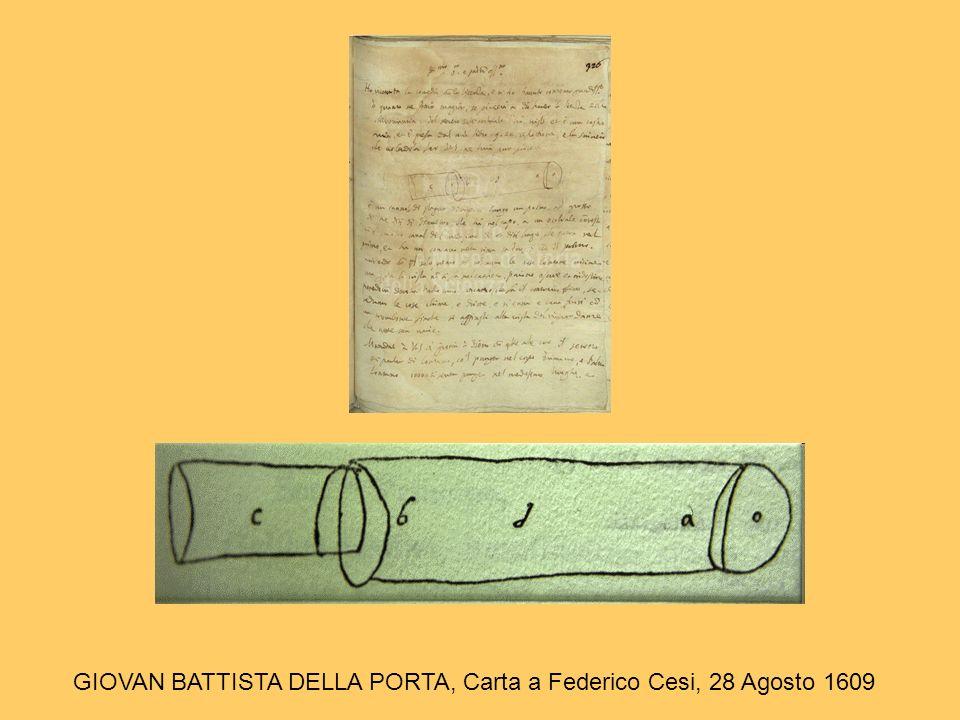 GIOVAN BATTISTA DELLA PORTA, Carta a Federico Cesi, 28 Agosto 1609