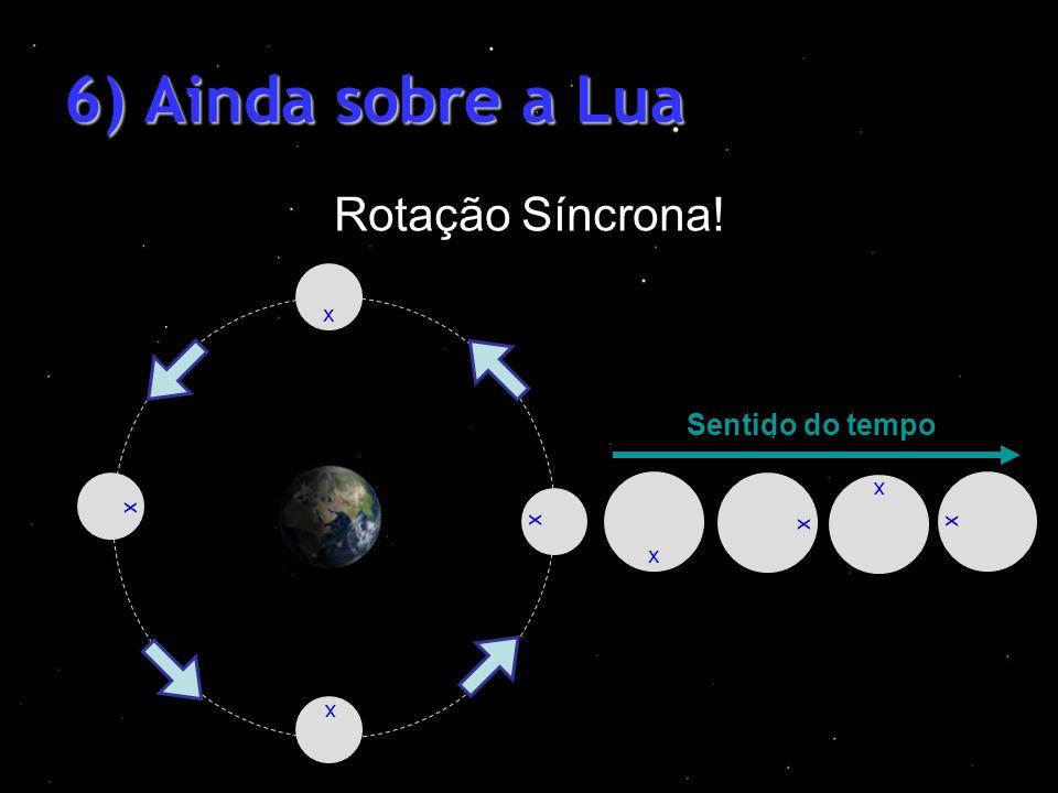 6) Ainda sobre a Lua Rotação Síncrona! Sentido do tempo xxxx xxxx