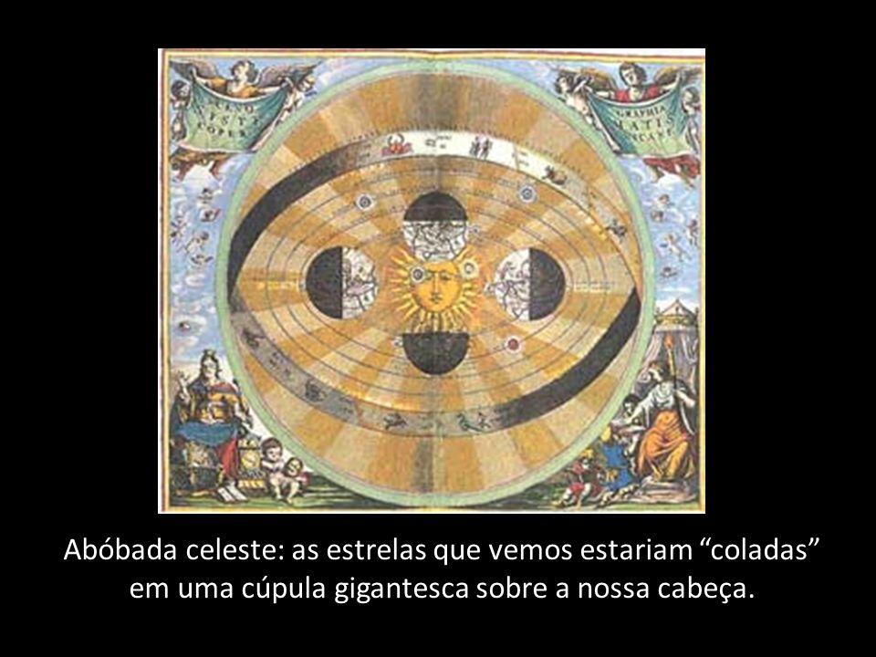 Abóbada celeste: as estrelas que vemos estariam coladas em uma cúpula gigantesca sobre a nossa cabeça.