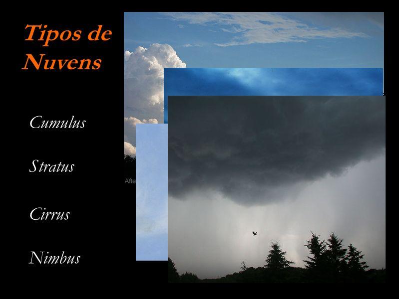 Cumulus Stratus Cirrus Nimbus Tipos de Nuvens