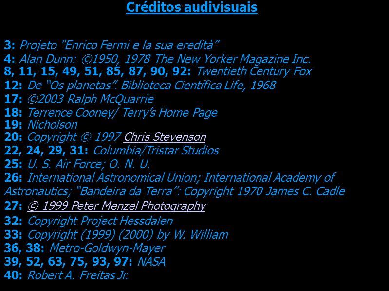 Créditos audivisuais 3: Projeto