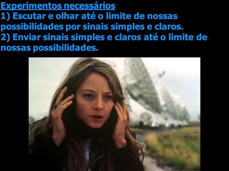Experimentos necessários 1) Escutar e olhar até o limite de nossas possibilidades por sinais simples e claros.