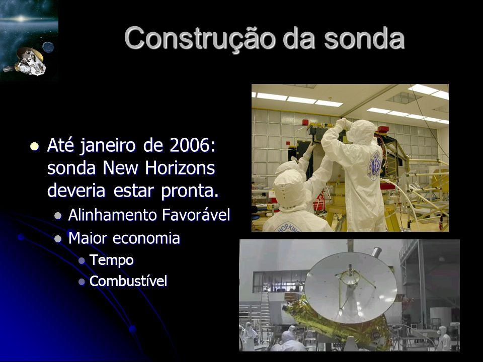 Construção da sonda Até janeiro de 2006: sonda New Horizons deveria estar pronta.