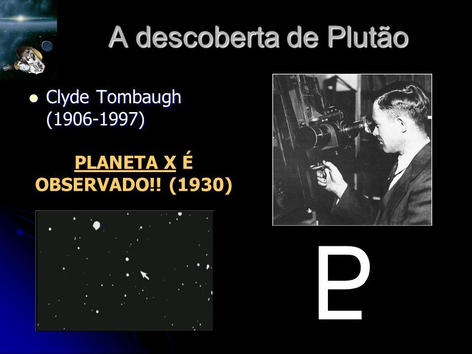 A descoberta de Plutão Clyde Tombaugh (1906-1997) Clyde Tombaugh (1906-1997) PLANETA X É OBSERVADO!.
