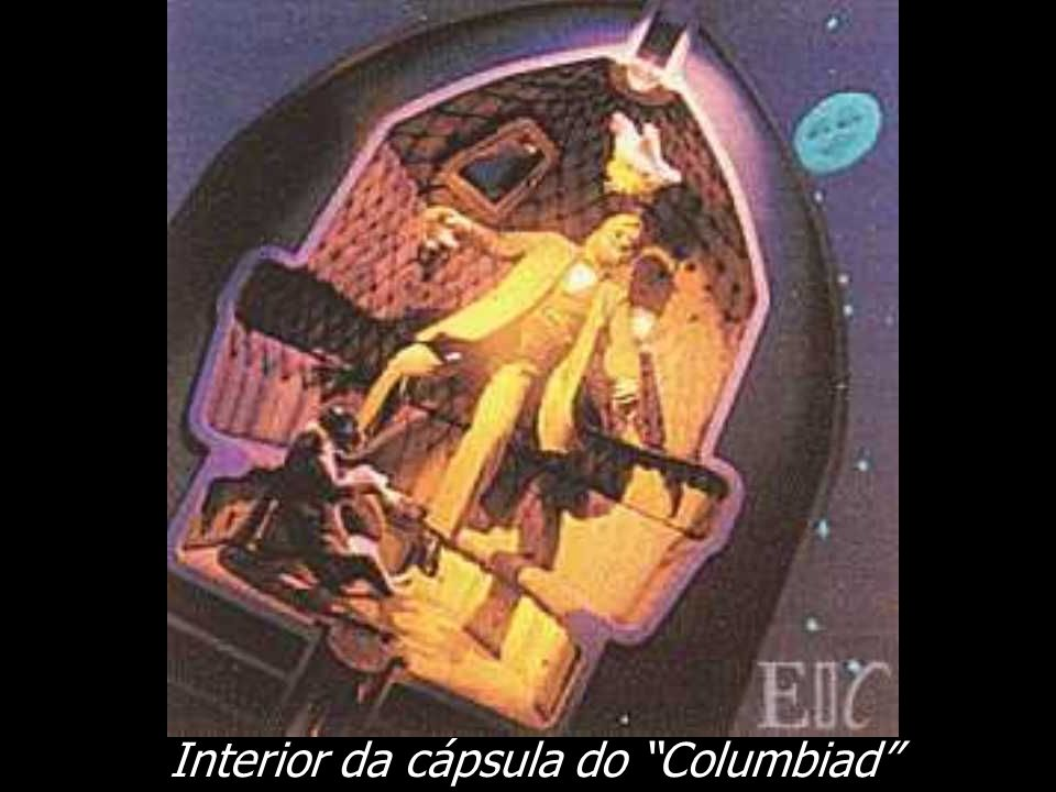 Interior da cápsula do Columbiad