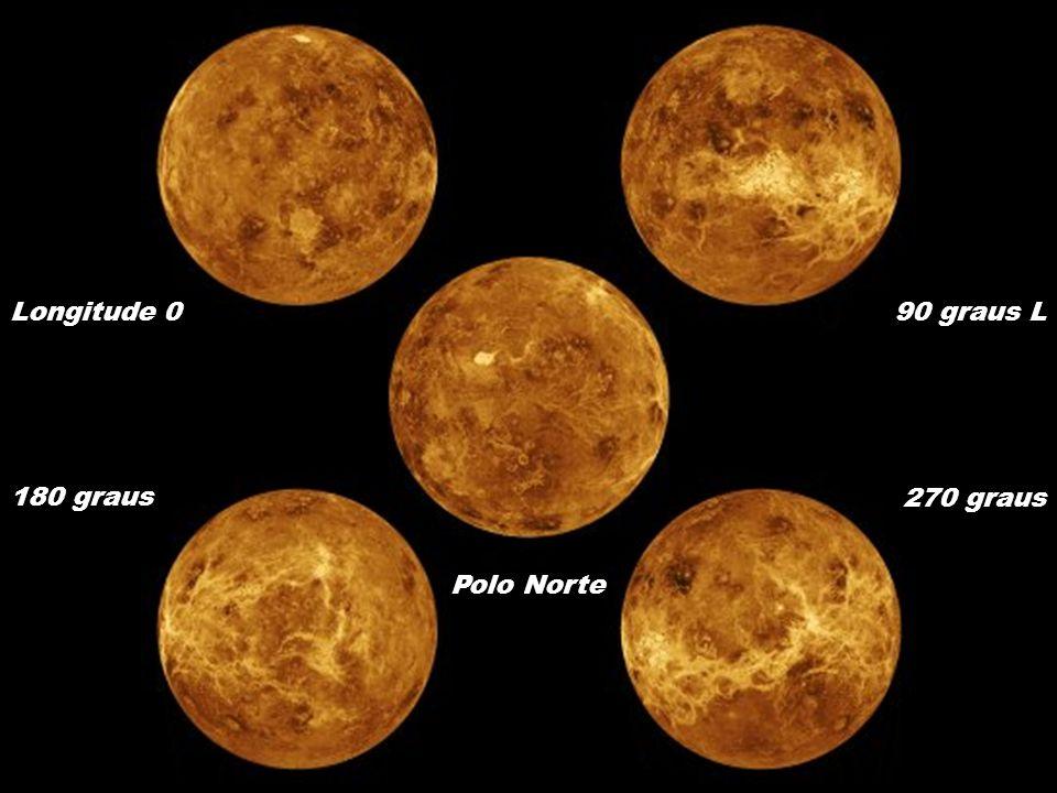 Polo Norte Longitude 090 graus L 180 graus 270 graus