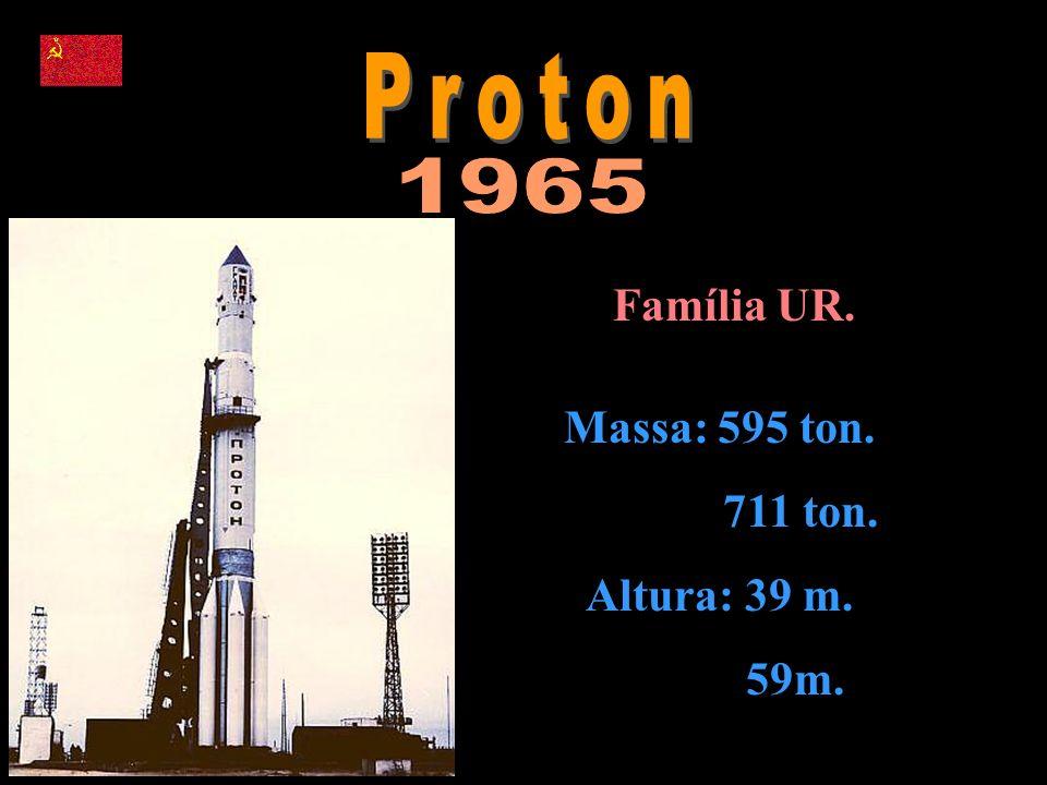 Família UR. Massa: 595 ton. 711 ton. Altura: 39 m. 59m.