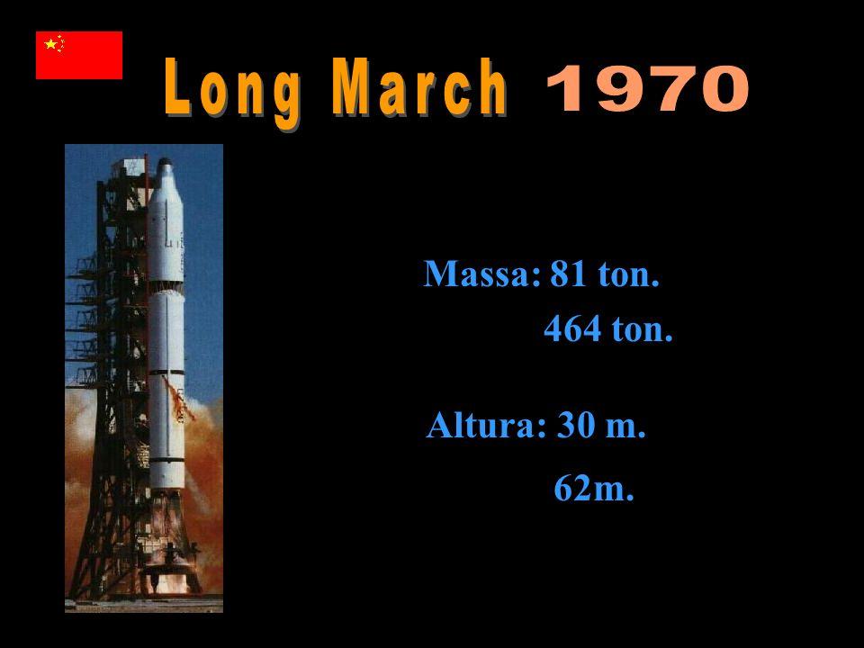 Massa: 81 ton. 464 ton. Altura: 30 m. 62m.