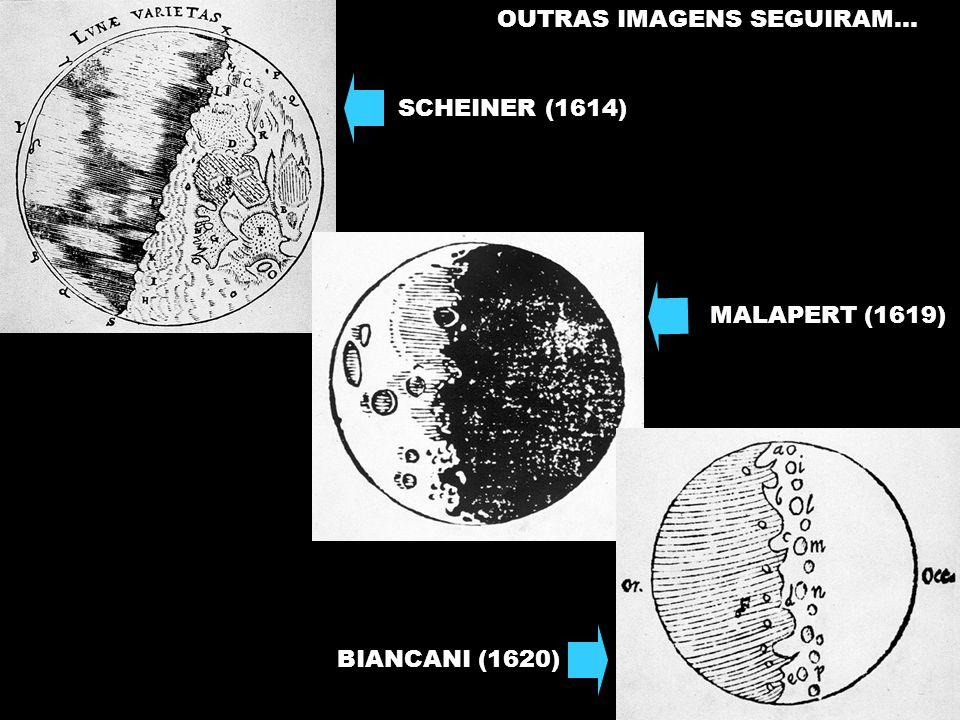SCHEINER (1614) MALAPERT (1619) BIANCANI (1620) OUTRAS IMAGENS SEGUIRAM...