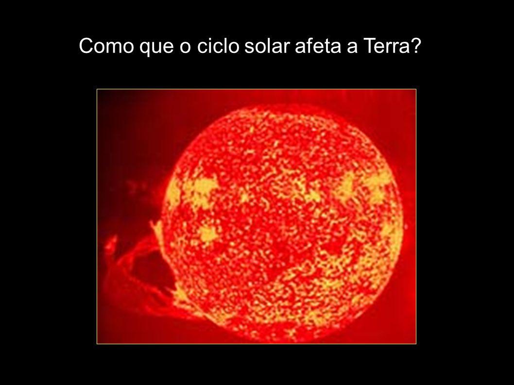Como que o ciclo solar afeta a Terra?
