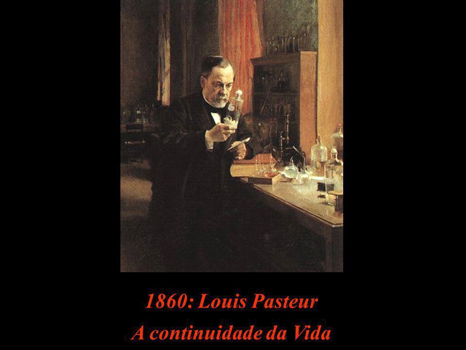 1860: Louis Pasteur A continuidade da Vida