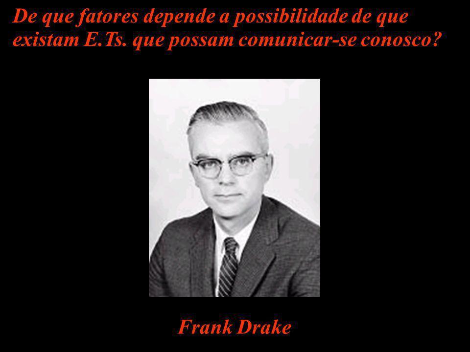 Frank Drake De que fatores depende a possibilidade de que existam E.Ts. que possam comunicar-se conosco?