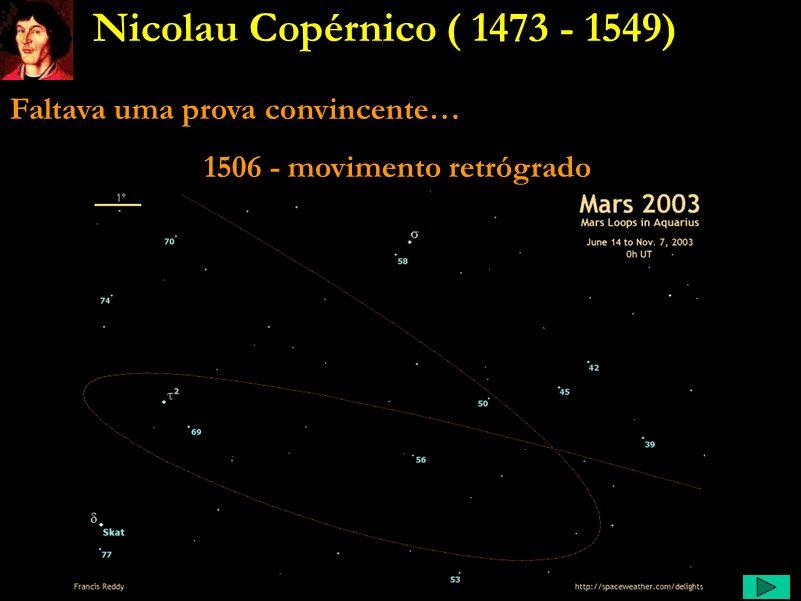 Copérnico Comentário: A idéia que a Terra se move não data de Copérnico. Ela era tão conhecida na antiguidade que Ptolomeu resolveu refutá-la. Se a Te