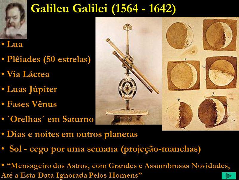Galileu Comentário: Kepler fica admirado com as lunetas, estuda e dá uma ótima base para a óptica geométrica, e ainda escreve um livro de ficção de um