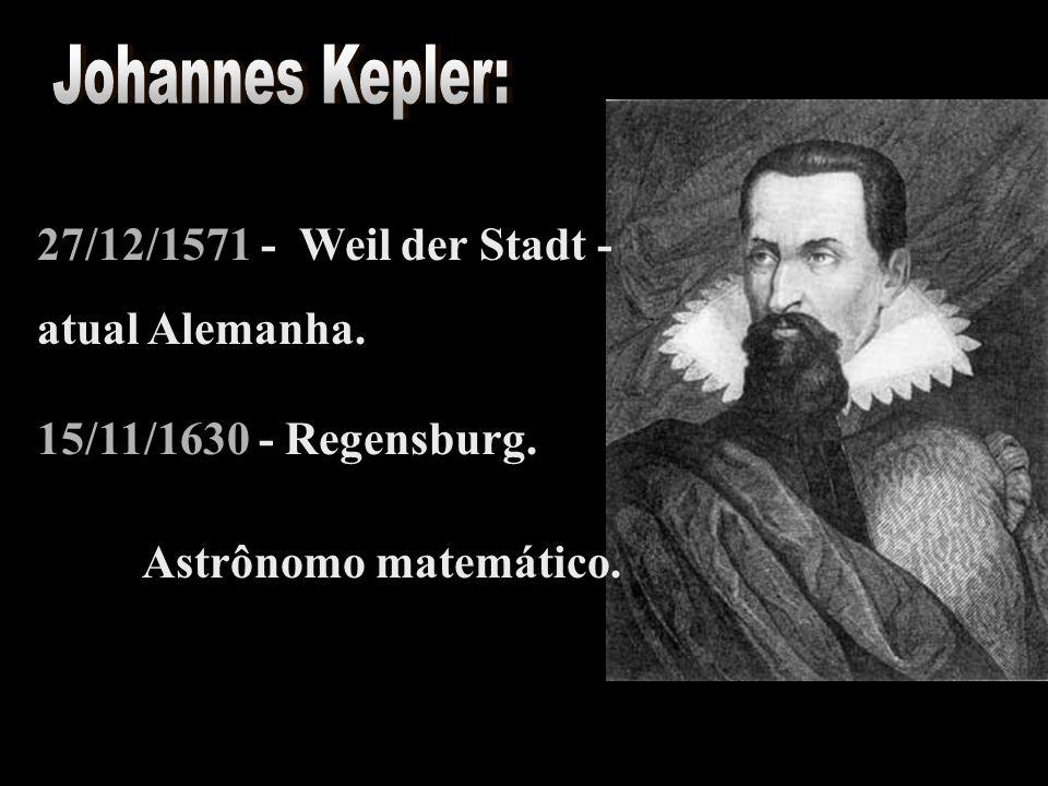 27/12/1571 - Weil der Stadt - atual Alemanha. 15/11/1630 - Regensburg. Astrônomo matemático.