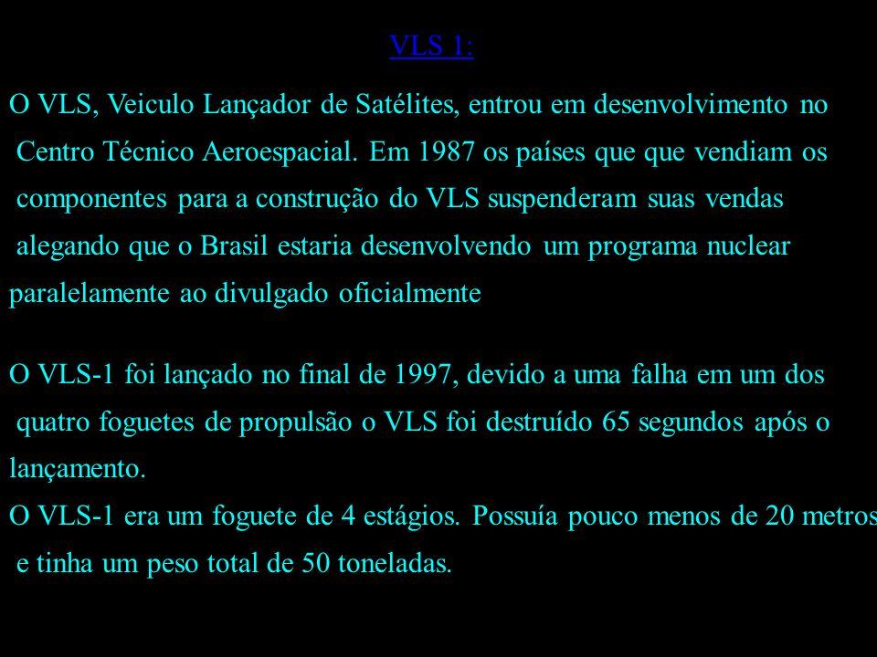 VLS 1: O VLS, Veiculo Lançador de Satélites, entrou em desenvolvimento no Centro Técnico Aeroespacial.