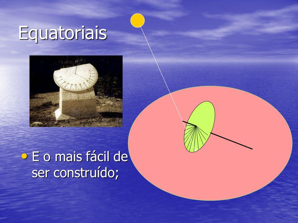 Equatoriais E o mais fácil de ser construído; E o mais fácil de ser construído;