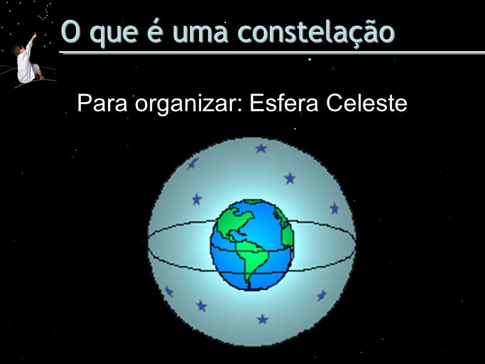 O que é uma constelação Para organizar: Esfera Celeste