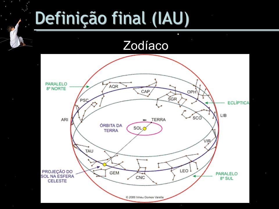 Definição final (IAU) Zodíaco