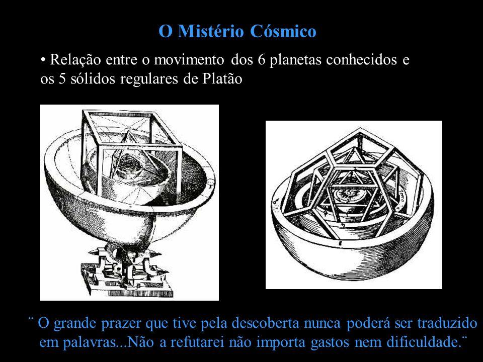 O Mistério Cósmico ¨ O grande prazer que tive pela descoberta nunca poderá ser traduzido em palavras...Não a refutarei não importa gastos nem dificuld