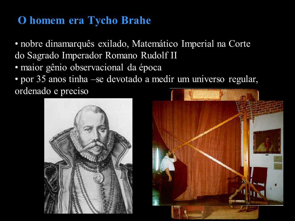 O homem era Tycho Brahe nobre dinamarquês exilado, Matemático Imperial na Corte do Sagrado Imperador Romano Rudolf II maior gênio observacional da épo