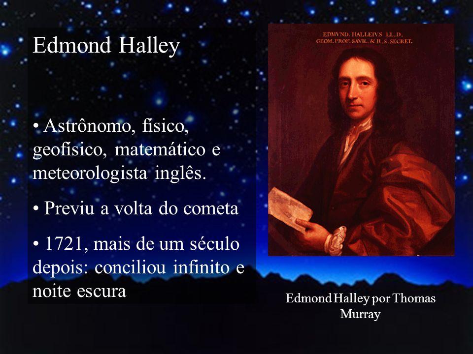 Edmond Halley Astrônomo, físico, geofísico, matemático e meteorologista inglês. Previu a volta do cometa 1721, mais de um século depois: conciliou inf