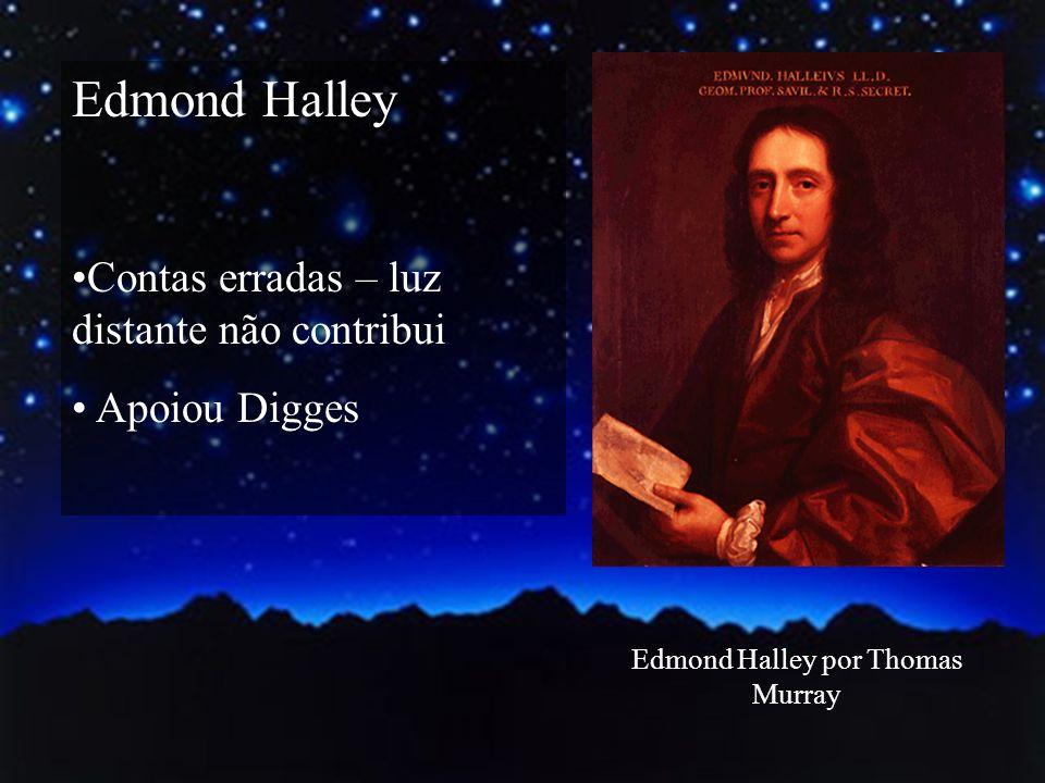 Edmond Halley Contas erradas – luz distante não contribui Apoiou Digges Edmond Halley por Thomas Murray